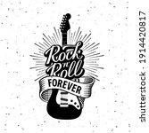 rock festival poster. rock and...   Shutterstock .eps vector #1914420817