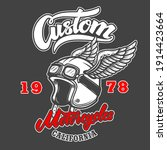 custom motorcycles. emblem... | Shutterstock .eps vector #1914423664