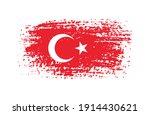 vector grunge flag of turkey. | Shutterstock .eps vector #1914430621