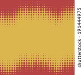 red and yellow wavy halftone... | Shutterstock .eps vector #191444975