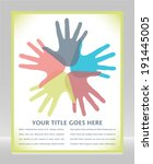 circle of loving hands with... | Shutterstock .eps vector #191445005