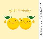 best friends postcard with cute ...   Shutterstock .eps vector #1914465157