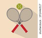 tennis design over beige... | Shutterstock .eps vector #191446517
