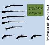 civil war weapons | Shutterstock .eps vector #191447615