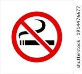 smoking is prohibited forbidden ... | Shutterstock .eps vector #1914476677