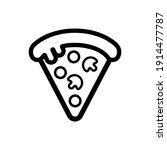 pizza icon vector logo symbol | Shutterstock .eps vector #1914477787
