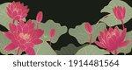 luxury lotus background vector. ... | Shutterstock .eps vector #1914481564