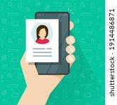 personal profile credentials... | Shutterstock .eps vector #1914486871