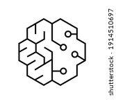 brain of intelligence  creative ...   Shutterstock .eps vector #1914510697