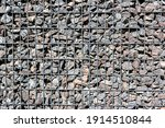 Gabion Made Of Black Stone And...