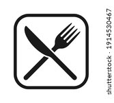 fork and knife crossed icon...   Shutterstock .eps vector #1914530467