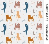 seamless colorful pattern with... | Shutterstock .eps vector #1914538891