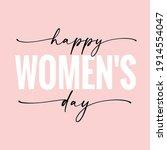 happy women's day elegant... | Shutterstock .eps vector #1914554047