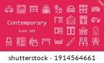 contemporary icon set. line...