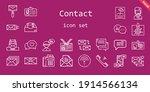 contact icon set. line icon...