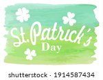 happy st. patrick's day...   Shutterstock .eps vector #1914587434