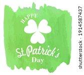 happy st. patrick's day...   Shutterstock .eps vector #1914587437