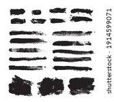 vector set grunge brush stroke. ... | Shutterstock .eps vector #1914599071