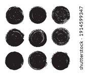vector set grunge circle. round ... | Shutterstock .eps vector #1914599347