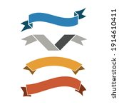 vintage styled ribbons... | Shutterstock .eps vector #1914610411