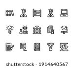 education icon set with student ...