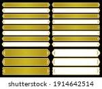 a design collection of golden...   Shutterstock .eps vector #1914642514
