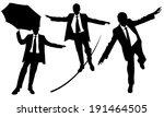 business men on rope set | Shutterstock .eps vector #191464505