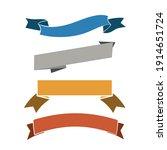 vintage style ribbons... | Shutterstock .eps vector #1914651724