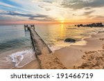 sunset over the sea at phu quoc ... | Shutterstock . vector #191466719