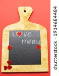 Cooking With Love Concept....