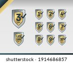 warranty logo collection with... | Shutterstock .eps vector #1914686857