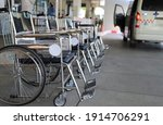 Closeup Of Wheelchairs...