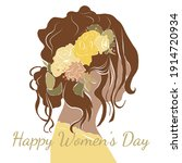 Happy Women's Day Postcard With ...