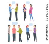 people talking to each other... | Shutterstock .eps vector #1914731437