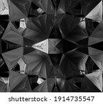 3d Render Of Abstract Art Black ...