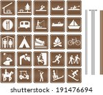 parks and recreation signs | Shutterstock .eps vector #191476694