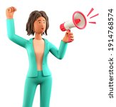 3d illustration of shouting... | Shutterstock . vector #1914768574