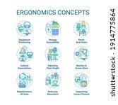 ergonomics concept icons set.... | Shutterstock .eps vector #1914775864
