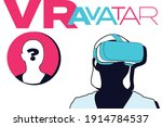 vr avatar vector template....