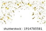 gold confetti celebration.gold... | Shutterstock .eps vector #1914785581