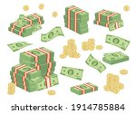 set a various kind of money.... | Shutterstock .eps vector #1914785884