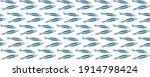 pattern of sardines illustrated ... | Shutterstock . vector #1914798424