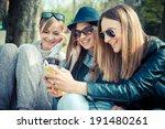 three beautiful friends...   Shutterstock . vector #191480261