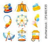 amusement entertainment park... | Shutterstock . vector #191481935