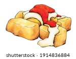 typical spanish tapa  'patatas... | Shutterstock . vector #1914836884