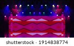scene  stage light with colored ... | Shutterstock . vector #1914838774