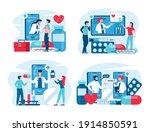 online medical support concept... | Shutterstock .eps vector #1914850591