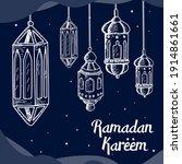 ramadan kareem bakground with...   Shutterstock .eps vector #1914861661