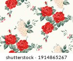 red roses.cool stylish design... | Shutterstock . vector #1914865267