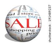 sale 3d sphere word cloud... | Shutterstock . vector #191489237